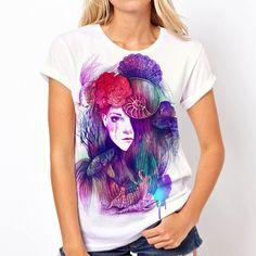 Aquatica Spring  Women Full Print 3d T shirt by DirtyFreshApparel, $25.00