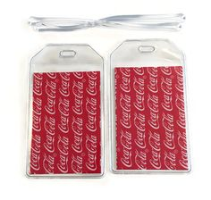 Luggage Tags Set of 2 Coca Cola by BostonLinz on Etsy
