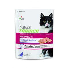 Alimento completo per gatti maturi oltre i 7 anni d'età Trainer Natural con Pollo Fresco. Aiuta a mantenere il peso ideale del tuo gatto maturo.