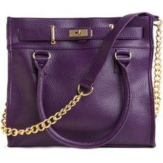 Modcloth Purple Purse Gold Chain