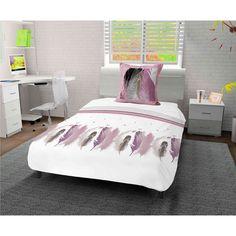 Parure de lit Plumette Blanc - Terre de Nuit Bed, Furniture, Home Decor, Comforter Set, Night, Earth, White People, Decoration Home, Stream Bed
