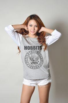 The Hobbit Shirt Lord of the Rings Baseball Tee Shirts Raglan Sleeve TShirt Women