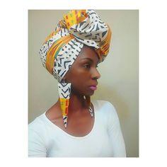 Kente Mudcloth African headwrap  Ankara turban  by AnkaraKouture