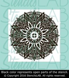 Mandala Stencil - Unique Mandala Design - Mandala-style Stencil - Mandala Floor Stencil- Wall Stencil - Geometric Design This easy to use stencil is a perfect solution for your decoration idea. *Need
