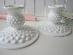 Vintage Fenton Milk Glass Hobnail G-ma gave me these too my fav