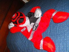Snugglers XL Red Black Power Rangers Pillow Character - Dirty Butter Plush Animal Shoppe