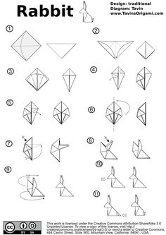 Images For > 3d Origami Bunny Instructions