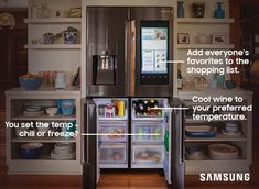 Red, white, or rosé, the Family Hub refrigerator is ready for any celebration. Keep drinks cooled to a specific temperature, and when you've run out, add it to your grocery list. Even store your cheeses in the Freezer to Fridge compartment for a one-stop shop cocktail hour.