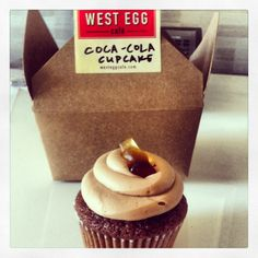 Head over to West Egg Cafe in West Midtown for a famous Coca-Cola Cupcake. #Atlanta