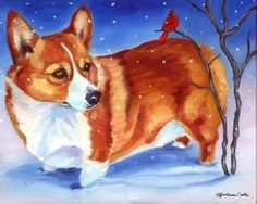 Corgi artwork