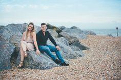 Seaside, beach engagement shoot.  Matt Fox Photography - Blog - Joanna & Jamie // Engagement Shoot // Westenhanger Castle