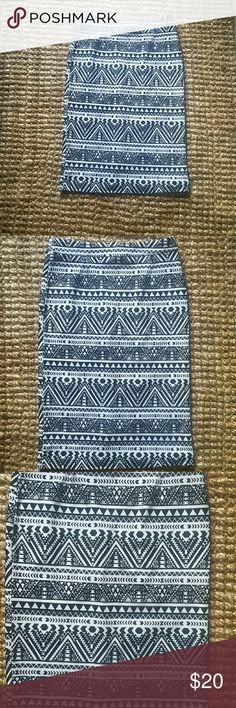 Selling this Black & White Printed Pencil skirt on Poshmark! My username is: & Skirts