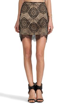 For Love & Lemons Grace Mini Skirt in Black from REVOLVEclothing