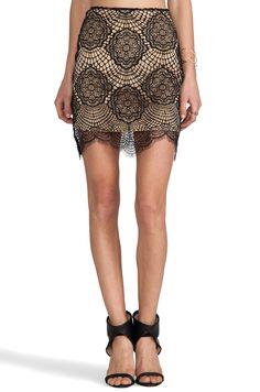For Love & Lemons Grace Mini Skirt in Black