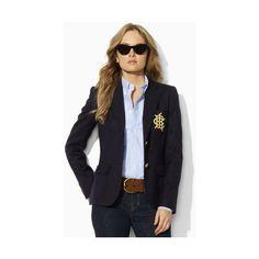 Ralph Lauren Blue Label Polo I Custom Women's Blazer - Blue - Size 10... ($359) ❤ liked on Polyvore