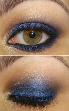 like this clor blue, but as a liner, not as a base shade. really like the contrast with my eye color.