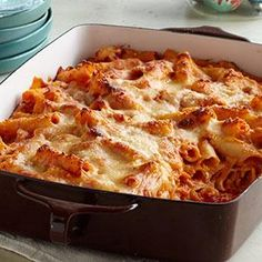 Creamy Baked Ziti Recipe from our friends at Philadelphia Cream Cheese