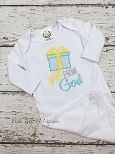 A personal favorite from my Etsy shop https://www.etsy.com/listing/480263749/infant-gown-baby-gown-gift-from-god-baby