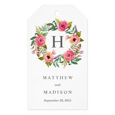Sweet Bohemian Wreath | Wedding Gift Tags Pack Of Gift Tags