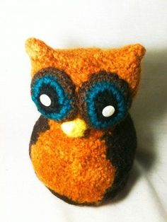 Felted Funky Owl Toy~~Link is gone, but the owl lives on.
