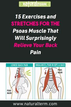 fitness 15 Exercises and Stretches for The Psoas Muscle That Will Surprisingly Relieve Your Back Pain Fitness Logo, Fitness Workouts, Fitness Motivation, Yoga Fitness, Muscle Fitness, Scoliosis Exercises, Back Pain Exercises, Yoga Exercises, Training Exercises