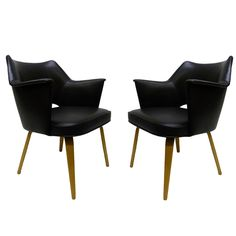 Mid-Century Modern Arm Chairs by Thonet, Pair (via @1stdibs) #midcentury #chairs