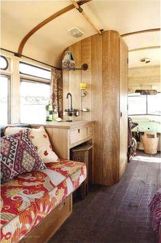 Lovely trailer interior.