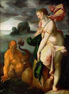 Glauco e Scilla, Bartholomäus Spranger, 1580/1582