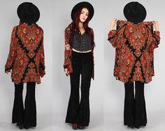 Vtg 90s Paisley Ethnic Draped Boho Hippie Shirt by theindustry, $110.00