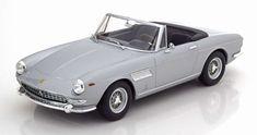 "KK Scale - 1:18 - Ferrari 275 GTS Pininfarina Spyder mit Speichenfelgen 1964 silber - Limited Edition ""500 pieces""! - Catawiki Pininfarina, Ferrari, Box Manufacturers, Cadillac Eldorado, Cool Cars, Scale Model Cars, Auction, Silver"