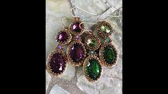Interlace Earrings - A Bronzepony Beaded Jewelery Design