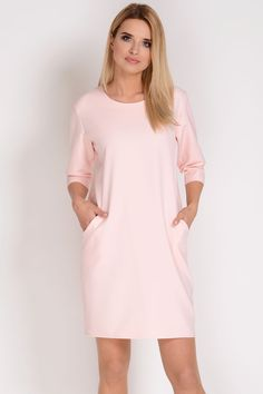 4a5ece082c AVARO Elegancka sukienka z kieszeniami SU-1327