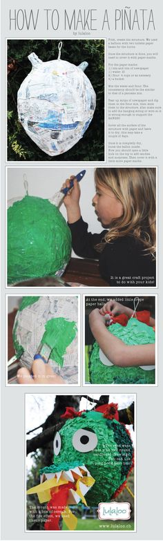 How to make a #piñata #Dragon pinata #crafts #DIY pinata
