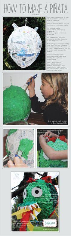 How to make a #piñata #Dragon pinata #crafts #DIY pinata