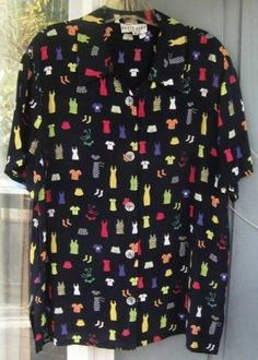 "David Dart s s Shirt ""Clothing"" Design in Sz Med | eBay"