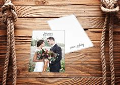 Photo Wedding Thank You Card Printable by 4theLoveofStationery