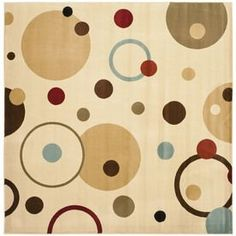 Safavieh Porcello Ivory/Multi Square Indoor Machine-Made Novelty Area Rug (Common: 5 X 5; Actual: 5-Ft W X 5-Ft L X 0-Ft
