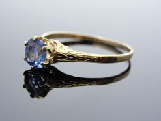 Vintage Victorian Sapphire Birthstone Ring, Lovely Promise Ring RGSAP122D