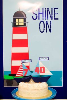 """""""Lighthouse"""" Themed Father and Son Birthday Party 