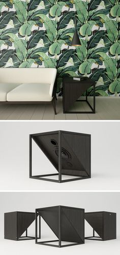 Design studio JLA, have created a minimalist side table that doesn't just create a place to place your book or table lamp, it's also your home or office sound system.