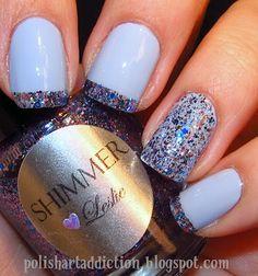 China Glaze: Agent Lavender; Shimmer Leslie on the ring finger and tips