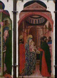 """GIOVANNI FRANCESCO DA RIMINI (Attribué),1440-50 - Vie de la Vierge, La Circoncision (Louvre) - 0a  -  TAGS / painter peintre details détail détails painting paintings peinture peintures """"peintures 15e"""" """"15th-century paintings"""" """"Moyen Âge"""" """"Middle age"""" Museum Italie Italy Circumcision femme woman man men Virgin Jésus Jesus Enfant Child kid enfance childhood motherhood maternité parents family famille nu naked bare """"Italian paintings"""" """"peinture italienne"""" Bible Bless sacred holy blessed"""