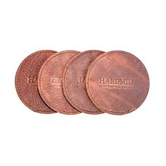 Leather Coasters - Set of 4 - Made in USA ** More info could be found at the image url.