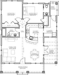 Cottage style cool house plan id chp 44490 total living for 1500 sq ft metal building