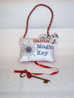 Santa's Magic Key Christmas Gift Christmas by MacAndRoniDesigns