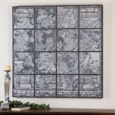 Antique Street Map Wall Art