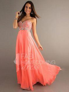 2013 Style A-line Sweetheart Rhinestone Sleeveless Floor-length Chiffon Prom Dresses / Evening Dresses (SZ0302087) - FabHomecomingDress.com