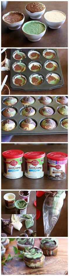 Recipe Sweet // Camo Cupcakes