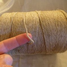 Grosse bobine ficelle de lin neuve mercerie textile ancien crochet 1 kg