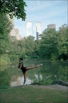 ballerina in a park